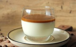 Impress your guests with this Vanilla Panna Cotta with Coffee Caramel Sauce